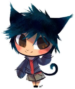 Hiro as a cat