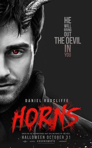 Horns Film official uk Poster (Fb.com/DanielJacobRadcliffeFanClub)