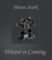 House Stark Direwolf - a-song-of-ice-and-fire fan art