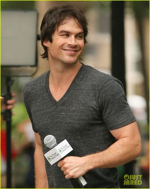 Ian Somerhalder filming a segment for The Climate Reality Project