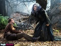 Into the Woods (Movie) - The Baker (James Corden) and the Witch (Meryl Streep) - into-the-woods photo