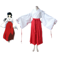 InuYasha Kikyo Miko Kimono Cosplay Costume