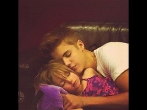 JB with his cute sis