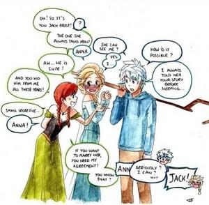 Jack Frost, 皇后乐队 Elsa and Anna