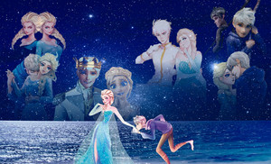 Jack Frost and কুইন Elsa
