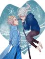Jack Frost and Queen Elsa