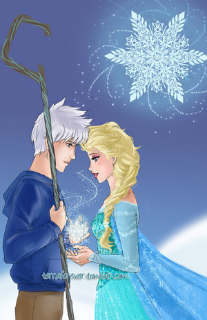 Jack Frost and क्वीन Elsa