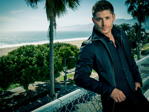 Ingrid's Graceland 바탕화면 with a chainlink fence and a business suit titled Jensen Ackles ❤ Harper's Bazaar China