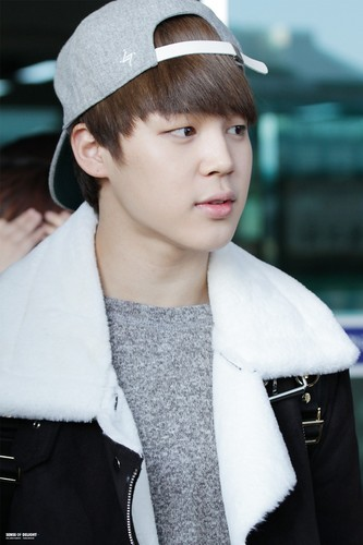 Jimin (BTS) wallpaper possibly containing an outerwear titled Jimin at the airport