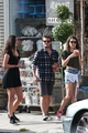 Josh Hutcherson and Claudia Traisac on Abbot Kinney in Venice Beach