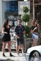 Josh Hutcherson and Claudia Traisac on Abbot Kinney in Venice strand