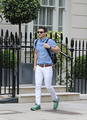 Josh Wood Out And About in Belgravia