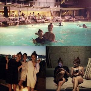 Jung Ah's Instagram post with UEE