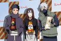 Kakashi Hatake, Rin and Obito Uchiha