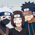 Kakashi Hatake, Rin and Obito Uchiha - kakashi fan art