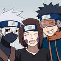 Kakashi Hatake, Rin and Obito Uchiha