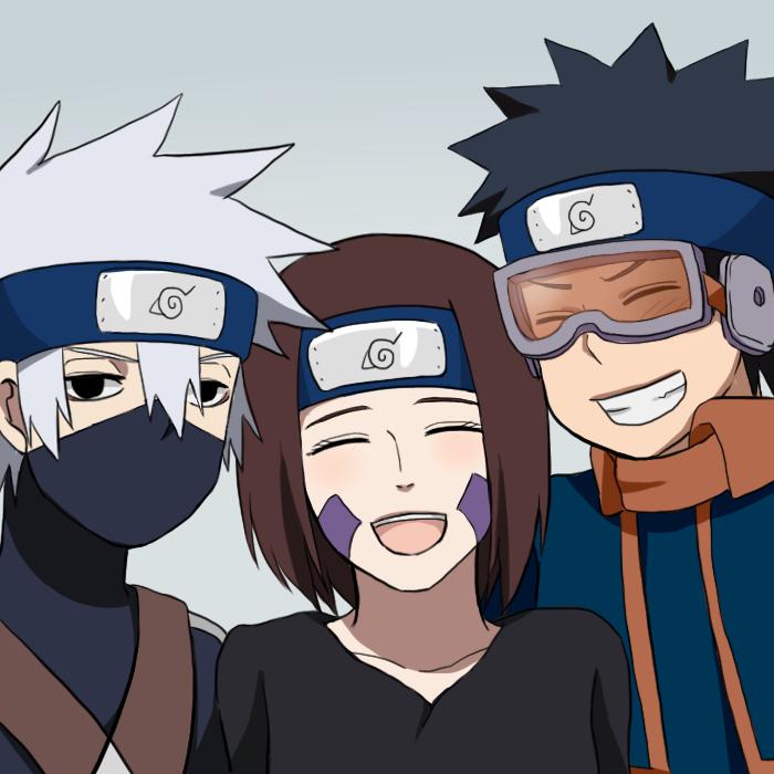 卡卡西 Hatake, Rin and Obito Uchiha