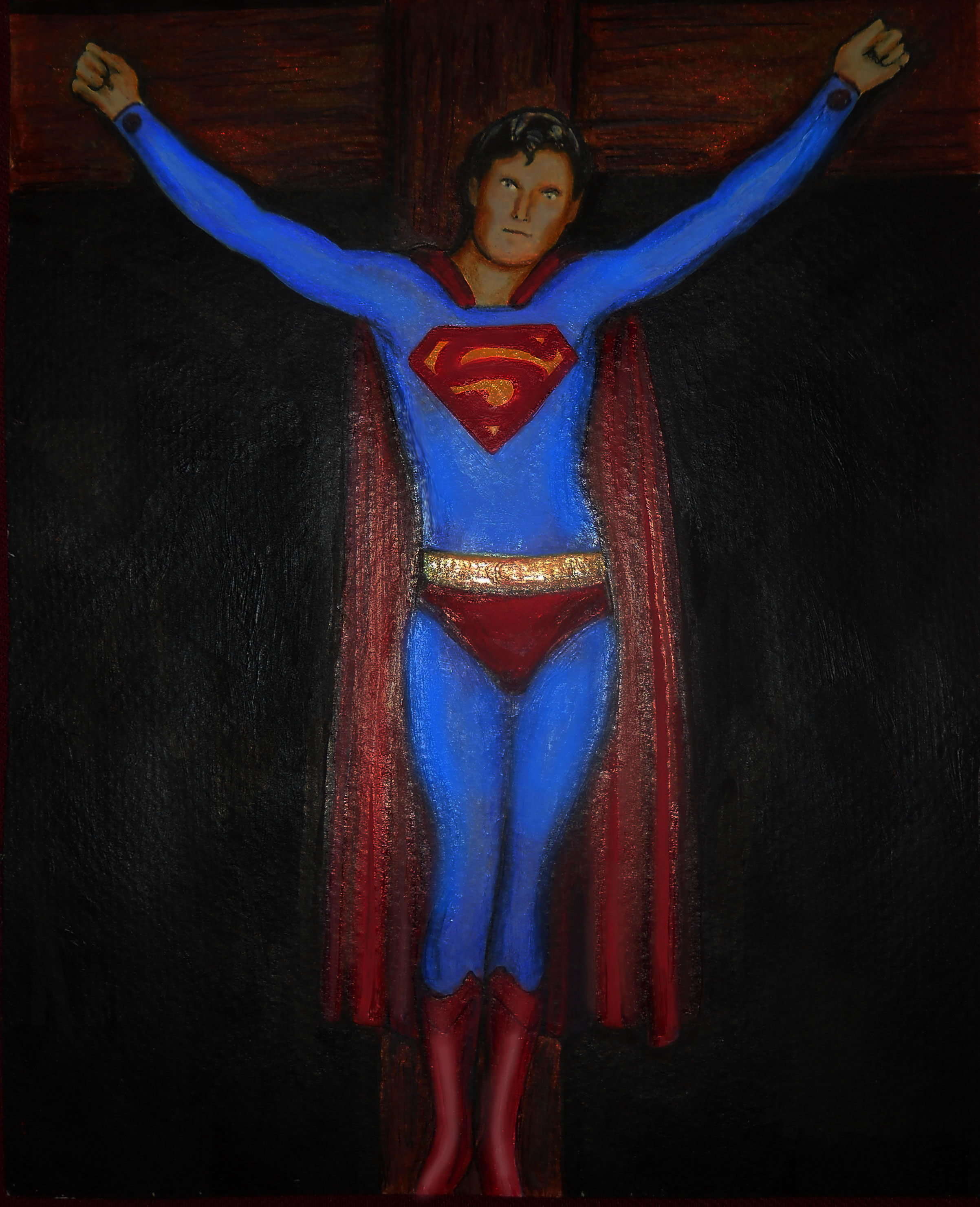 Kal-el on a cross by Bart Schechinger