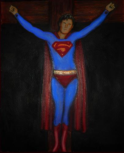 Superman kertas dinding called Kal-el on a menyeberang, cross sejak Bart Schechinger
