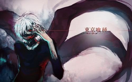 Tokyo Ghoul karatasi la kupamba ukuta titled Kaneki ken karatasi la kupamba ukuta