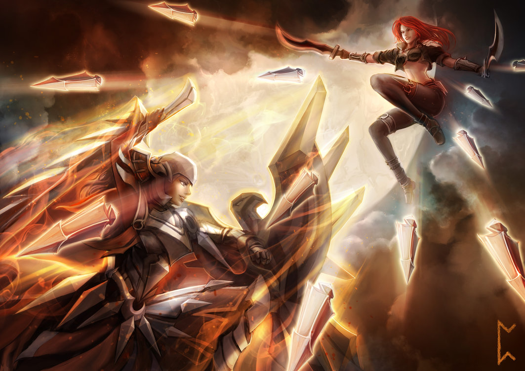League Of Legends Images Katarina Vs Leona Hd Wallpaper And