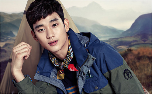 Kim SooHyun wallpaper probably with an outerwear, a box coat, and an overgarment called Kim Soo Hyun for BEANPOLE OUTDOOR F/W 2014 Lookbook