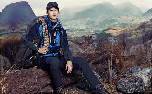 Kim SooHyun wallpaper containing an alpinist entitled Kim Soo Hyun for BEANPOLE OUTDOOR F/W 2014 Lookbook