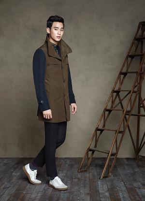 Kim Soo Hyun for ZIOZIA Fall 2014 Ad Campaign