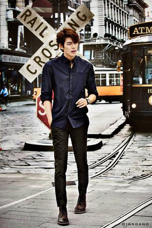 Kim Woo Bin GIORDANO Fall 2014 Ad Campaign