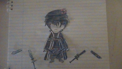 Sword Art Online wallpaper possibly with a sign called Kirito Chibi