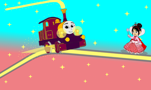 Thomas the Tank Engine wallpaper entitled Lady lights up on the Hill