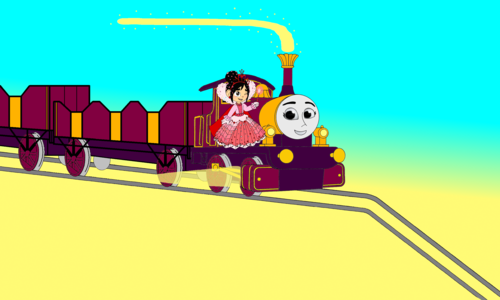 Thomas the Tank Engine Hintergrund probably with a hacksaw titled Lady & Vanellope go down the Mountain hügel