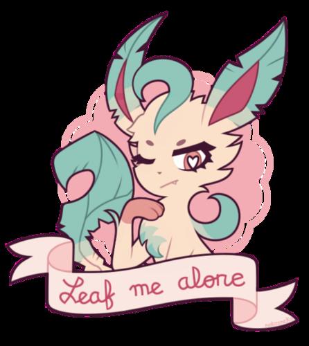 Pokémon achtergrond titled Leafeon