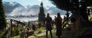 Legolas and Tauriel in BoFA