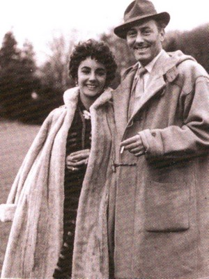 Liz Taylor and her segundo husband Michael Wilding
