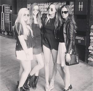 Lottie's new Instagram post with Eleanor, Danielle, and Sophia