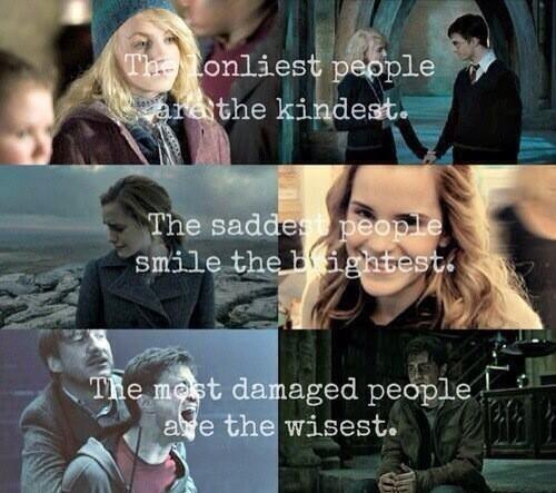 Luna, Hermione, Harry
