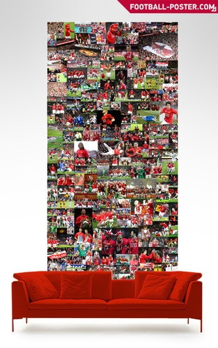 Soccer wallpaper entitled MANCHESTER UNITED F.C. poster
