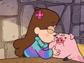Mabel kissing Waddles - gravity-falls-mabel-pines photo