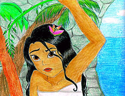 Disney's Moana Hintergrund probably containing Anime entitled MalloMar's Moana Fan Art
