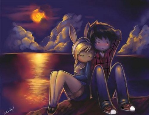 fiolee (fionna e marshal lee) wallpaper containing animê entitled Marshall Lee x Fionna Don't Leave Me