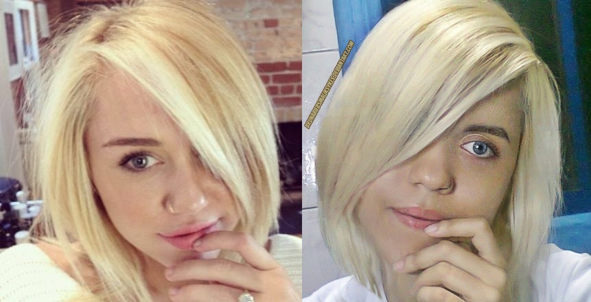 blonde hair cyrus Miley