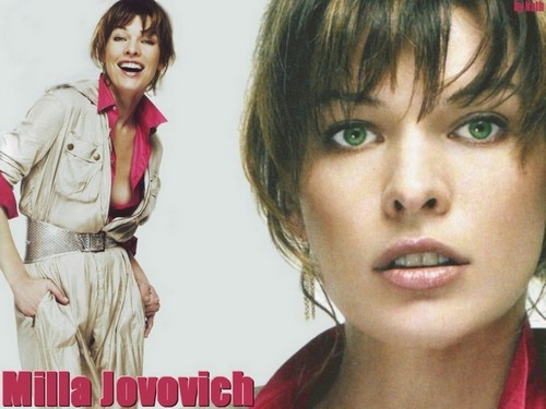밀라 요보비치 바탕화면 with a portrait entitled Milla Jovovich