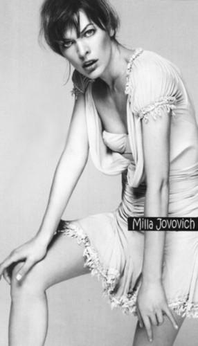 Milla Jovovich karatasi la kupamba ukuta probably with a lingerie titled Milla.Jovovich