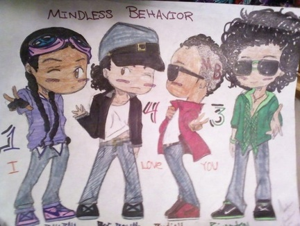 princeton (mindless behaviour) wallpaper containing anime entitled Mindless behavior