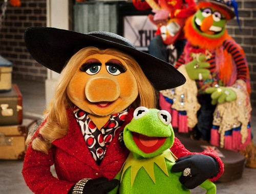 The Muppets fond d'écran entitled Miss Piggy And Kermit