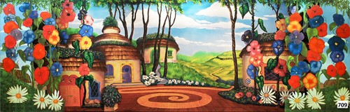 The Wizard of Oz wallpaper called Munchkinland