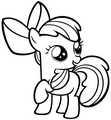 My Little poni, pony Colouring Sheets - Applebloom