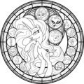 My Little টাট্টু Colouring Sheets - Nightmare Rarity