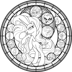 My Little ٹٹو Colouring Sheets - Nightmare Rarity